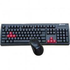 达尔优奔雷手键鼠套装(P+U)    ps/2电脑键盘  usb有线鼠标    防水耐用