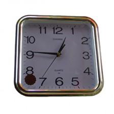 常胜银白色方形挂钟 368  石英方形挂钟  质量保证