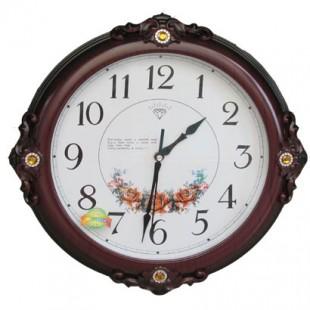 钻石木纹挂钟/时尚创意客厅钟 办公挂钟