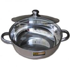 奋华复底汤锅28cm电磁炉火锅 不锈钢火锅 优质不锈钢 加厚底部