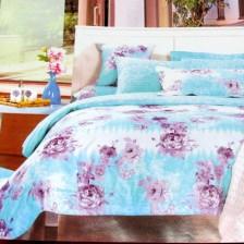 蕾丝花边床罩四件套 床上用品四件套 全棉印花四件套