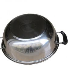电磁炉火锅28cm海发不锈钢复底火锅 加厚不锈钢汤锅