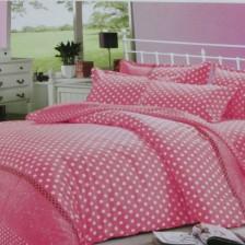 床上用品圆梦粉四件套 全棉斜纹印花四件套
