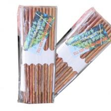 特色椰质筷子10双装/高品质椰质筷子越南天然槟榔筷子