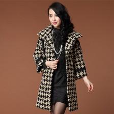 2013欧美时尚气质羊毛呢大衣外套 欧美女装  包邮
