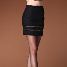 啊利彩ALICAI半身裙/品牌职业OL通勤毛呢半身裙 2013秋冬新款 纯色半身裙
