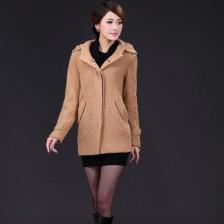 韩版冬装新款毛呢外套修身加厚单排扣呢大衣 毛呢外套 靓丽时尚 包邮