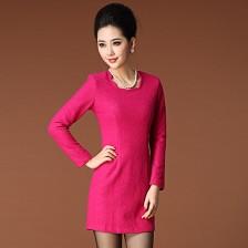 欧美范连衣裙/修身羊毛呢连衣裙 2013冬装新款连衣裙