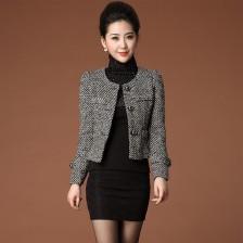 2013冬装新款毛呢外套气质百搭修身小西装外套 时尚韩版女装  包邮