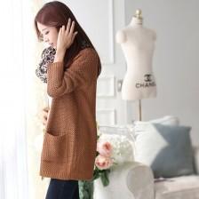2013秋冬新款韩版经典麻花纹加厚毛衣外套女开衫  包邮