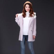 冬季新款高档独特烟花绒保暖大衣  毛呢保暖外套  包邮