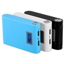 大容量充电宝/双USB输出液晶数显手机充电宝12000毫安 手机移动电源  包邮