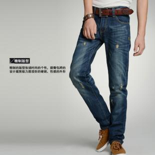 韩版热卖男牛仔长裤/男式牛仔裤/休闲百搭男裤子 热卖  包邮
