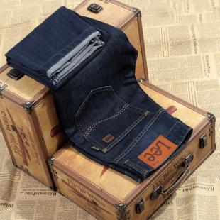 秋冬新品男士牛仔裤/男装商务直筒中腰Lee男式牛仔长裤