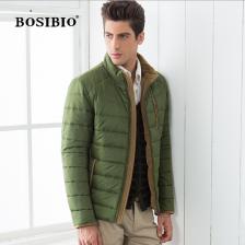 加绒加厚冬季新款BOSIBIO/2013高档时尚个性棉衣 英伦精品男装  正品 包邮
