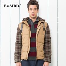 冬季新款男式连帽加厚棉衣男时尚休闲加绒外套男装 保暖外套  包邮