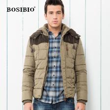 冬季新款男式棉衣时尚加厚连帽外套男休闲保暖棉衣   包邮