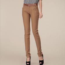 2013新款休闲长款铅笔裤直筒裤女裤哈伦裤正品 送皮带   包邮