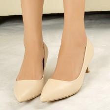 2014春季新款厂家直销时尚职业OL尖头中高跟女鞋浅口单鞋女鞋