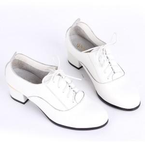 2014新款韩版休闲时尚牛皮真皮低跟系带平底单鞋女鞋