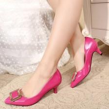 2014春季新款时尚职业女鞋OL尖头中高跟女鞋浅口细跟女式单鞋