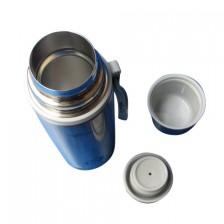 华亚真空保温杯 不锈钢保温壶 保温瓶 子弹头480ml 学生水壶  双层吊带杯