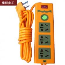 奥瑞 多插口排插 3米线 334 电脑 电磁炉 电暖气多用型排插