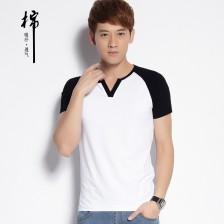 短袖男装2014新款棉男t恤短袖 夏装韩版男士短袖T恤男装 Z802 包邮