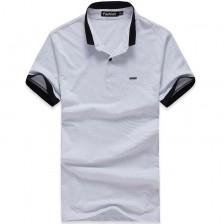 夏装新款撞色立领潮男士短袖T恤 韩版修身半袖POLO衫 Z6856 包邮