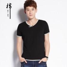 2014夏季新品韩版男式纯棉短袖T恤男式短袖t恤 Z6820 包邮