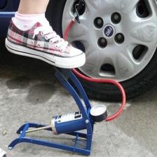汽车打气泵 充气泵 脚踏打气泵 汽车便捷式打气泵 迷你打气筒 包邮