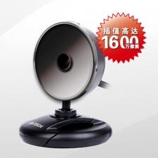 双飞燕高清摄像头PK-520F 1600W高清免驱带麦克风摄像头 即插即用 正品特卖
