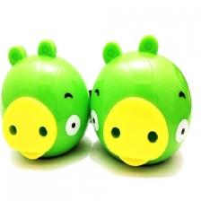 绿小猪USB笔记本小音响 新奇可爱电脑音响 手机音箱 迷你音响 2.0音箱