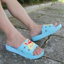 新款女鞋加厚防滑松糕跟女士拖鞋户外浴室增高凉拖鞋卡通增高鞋